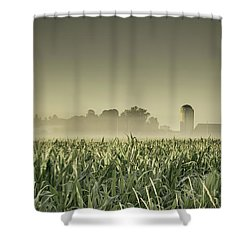 Country Farm Landscape Shower Curtain