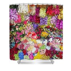 Country Flower Garden Colourful Design Shower Curtain