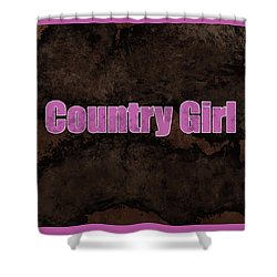 Country Girl Pink Shower Curtain