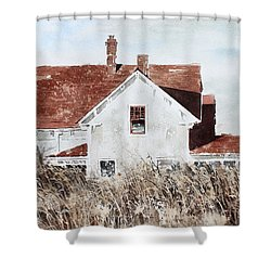 Country Home Shower Curtain by Monte Toon