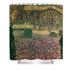 Country House By The Attersee Shower Curtain by Gustav Klimt