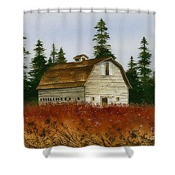 Shower Curtain featuring the painting Country Landscape by James Williamson