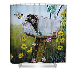 Country Mailbox Shower Curtain