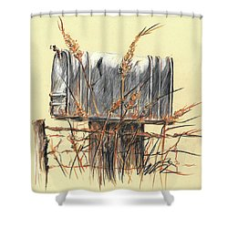 Country Mailbox In Colored Pencil Shower Curtain