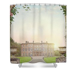 Country Mansion At Sunset Shower Curtain by Lee Avison
