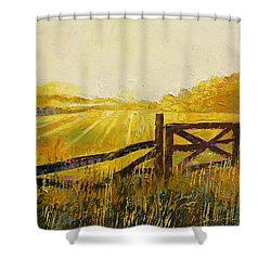 Country Meadow Shower Curtain by Michael Creese