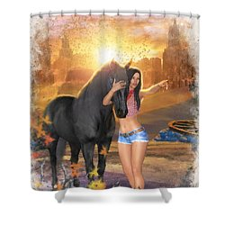 Country Memories 2 Shower Curtain