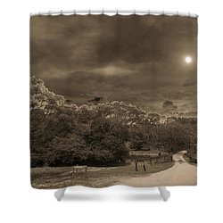 Shower Curtain featuring the photograph Country Moonlight by Beto Machado