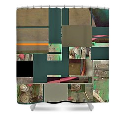Shower Curtain featuring the mixed media Country Mosaic by Andrew Drozdowicz