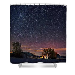 Country Night Life Shower Curtain
