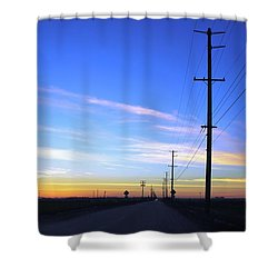 Shower Curtain featuring the photograph Country Open Road Sunset - Blue Sky by Matt Harang