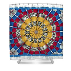 Country Quilt Wheel Shower Curtain