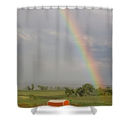 Country Rainbow Shower Curtain by James BO  Insogna