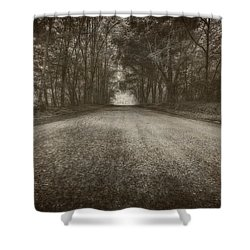 Country Road Shower Curtain by Everet Regal