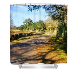 Shower Curtain featuring the photograph Country Road by Joan Bertucci