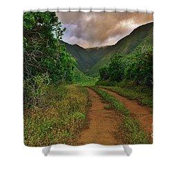 Country Road Kalaupapa, Molokai Shower Curtain by Craig Wood