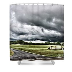 Country Road L Shower Curtain