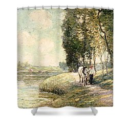 Country Road To Spuyten Shower Curtain by Ernest Lawson