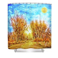 Country Road Wandering Shower Curtain