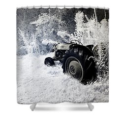 Country Road Yellow Sky Shower Curtain