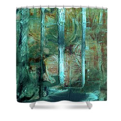 Country Roads - Abstract Landscape Painting Shower Curtain