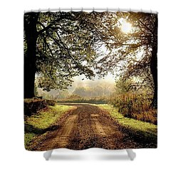 Country Roads Shower Curtain by Ronda Ryan