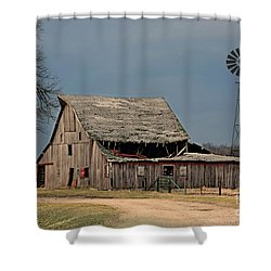 Country Roof Collapse Shower Curtain