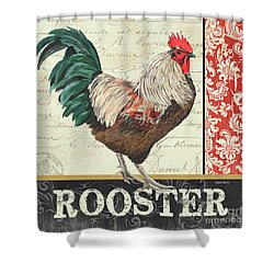 Country Rooster 1 Shower Curtain by Debbie DeWitt