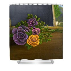 Country Roses Shower Curtain by Sheri Keith