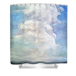 Shower Curtain featuring the painting Country Sky - Painting by Linda Apple