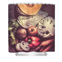 Country Style Foods Shower Curtain