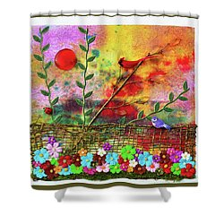 Country Sunrise Shower Curtain by Donna Blackhall