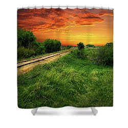 Country Tracks 2 Shower Curtain