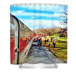 Country Train Depot Shower Curtain