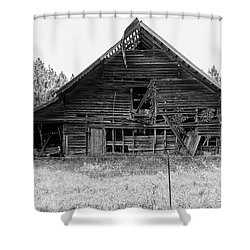 Country Treasure Bw Shower Curtain