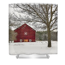 Shower Curtain featuring the digital art Country Vermont by Sharon Batdorf