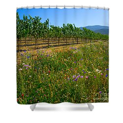 Country Wildflowers V Shower Curtain