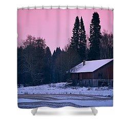 Countryside Full Moon Scenery Shower Curtain