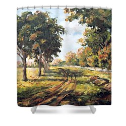 Countryside Shower Curtain by Alexandra Maria Ethlyn Cheshire