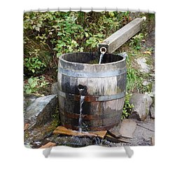 Countryside Water Feature Shower Curtain