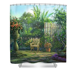 Country Contrasts Shower Curtain