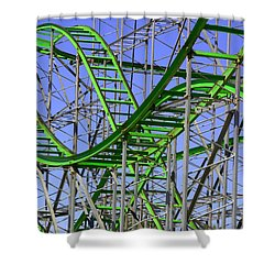 County Fair Thrill Ride Shower Curtain by Joe Kozlowski