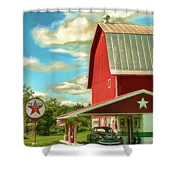 County G Classic Station Shower Curtain by Trey Foerster