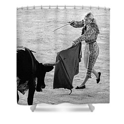 Coup De Grace In Pink Shower Curtain