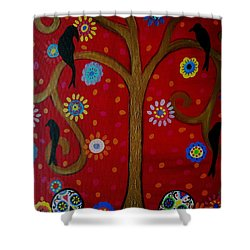 Couple Day Of The Dead Shower Curtain by Pristine Cartera Turkus