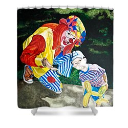 Couple Of Clowns Shower Curtain