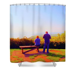 Couple Views Shower Curtain by Jan W Faul