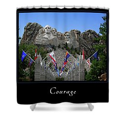 Shower Curtain featuring the photograph Courage 1 by Mary Jo Allen