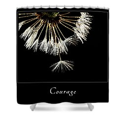 Shower Curtain featuring the photograph Courage 3 by Mary Jo Allen