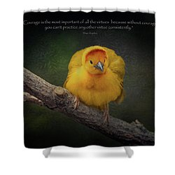 Courage Is The Most Important Of All The Virtues ... Shower Curtain